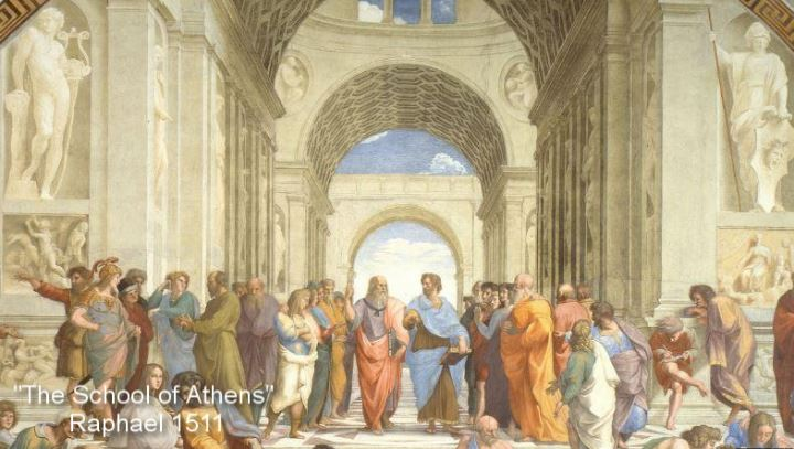 The School of Athens Fresco by Italian Renaissance Artist Raphael 1511